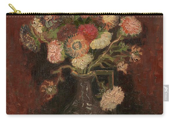 Vase With Chinese Asters And Gladioli Carry-all Pouch
