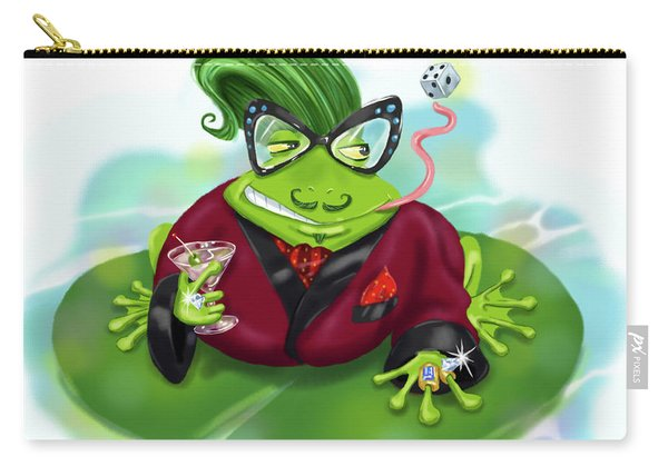 Vegas Frog Bachelor Pad Carry-all Pouch