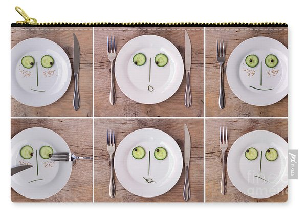 Vegetable Faces Carry-all Pouch