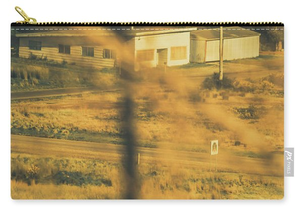 Vegitation View Of Rural Farm Homestead  Carry-all Pouch