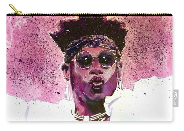 Carry-all Pouch featuring the painting Velveteen Dream by Joel Tesch