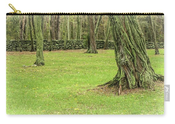 Venerable Trees And A Stone Wall Carry-all Pouch