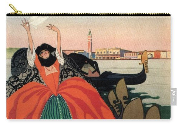 Venezia Estate 1921 - Coppa Del Re - Venice, Italy - Retro Travel Poster - Vintage Poster Carry-all Pouch