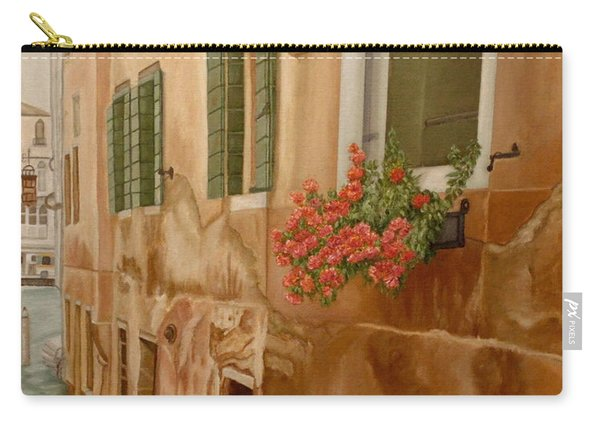 Carry-all Pouch featuring the painting Venice In June by Angeles M Pomata