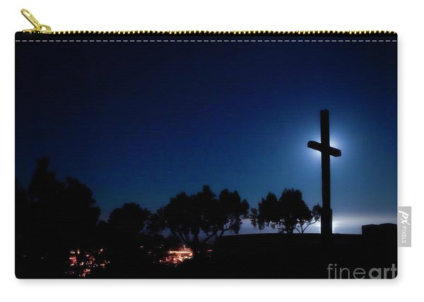 Ventura Ca Cross At Moonset Carry-all Pouch