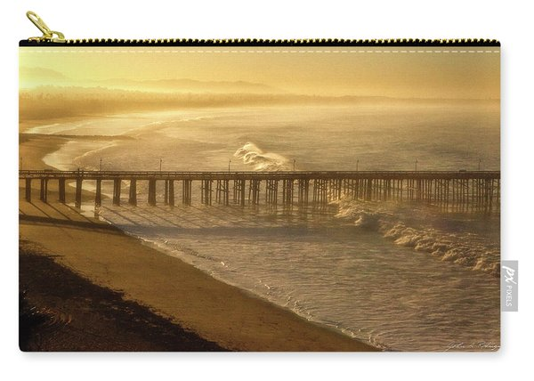 Ventura, Ca Pier At Sunrise Carry-all Pouch
