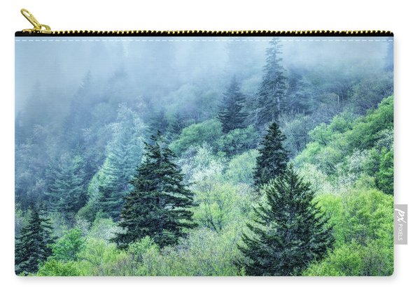 Verdant Forest In The Great Smoky Mountains Carry-all Pouch