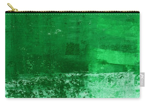 Verde-  Contemporary Abstract Art Carry-all Pouch