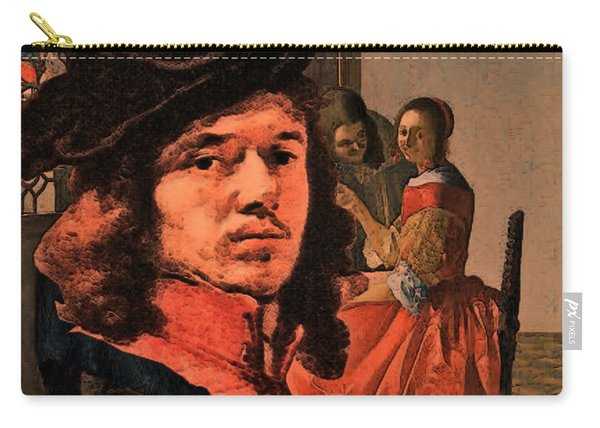 Vermeer Study In Orange Carry-all Pouch
