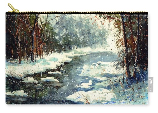 Very Cold Winter Watercolor Carry-all Pouch