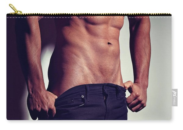 Very Sexy Man With Great Muscular Body Carry-all Pouch