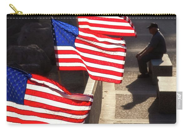Veteran With Our Nations Flags Carry-all Pouch