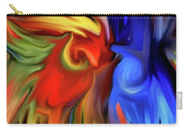 Vibrant Abstract Color Strokes Carry-all Pouch