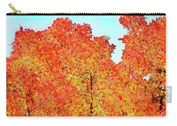 Vibrant Autum Trees Carry-all Pouch