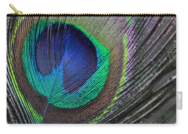 Vibrant Green Feather Carry-all Pouch