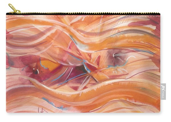 Vibrant Silk Carry-all Pouch