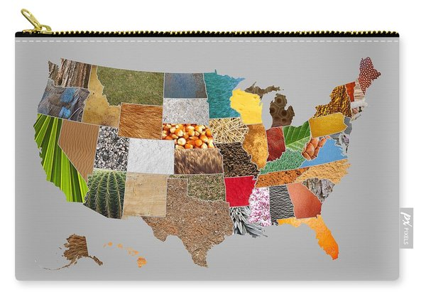 Vibrant Textures Of The United States Carry-all Pouch
