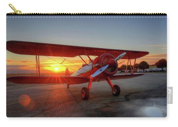 Vicky Benzings 1942 Boring Stearman At Livermore Carry-all Pouch