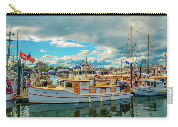 Victoria Harbor Old Boats Carry-all Pouch