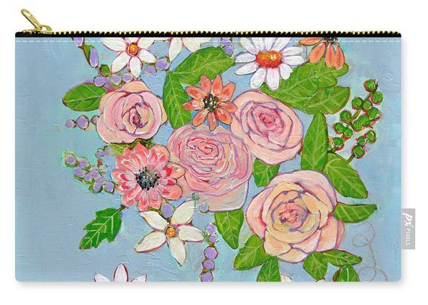 Victoria Rose Flowers Carry-all Pouch