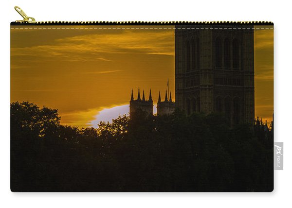 Victoria Tower In London Golden Hour Carry-all Pouch