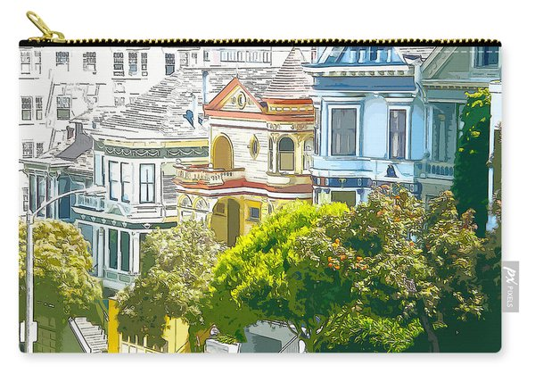 Victorian Painted Ladies Houses In San Francisco California Carry-all Pouch
