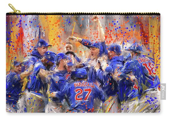 Victory At Last - Cubs 2016 World Series Champions Carry-all Pouch
