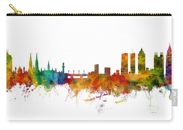 Vienna Austria And Atlanta Skylines Mashup Carry-all Pouch