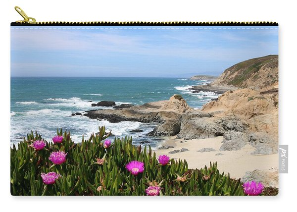 Carry-all Pouch featuring the photograph View From Bodega Head In Bodega Bay Ca - 3 by Christy Pooschke