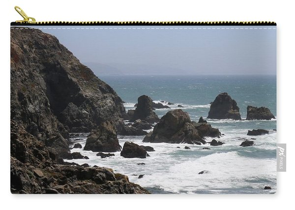 Carry-all Pouch featuring the photograph View From Bodega Head In Bodega Bay Ca - 4 by Christy Pooschke