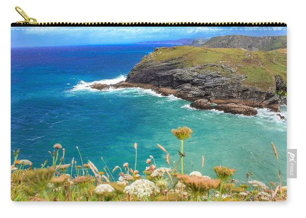 View From The Cliffs At Tintagel  Carry-all Pouch