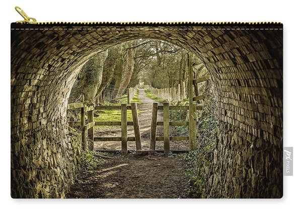 Carry-all Pouch featuring the photograph View From The Tunnel by Nick Bywater