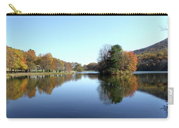 View Of Abbott Lake With Trees On Island, In Autumn Carry-all Pouch