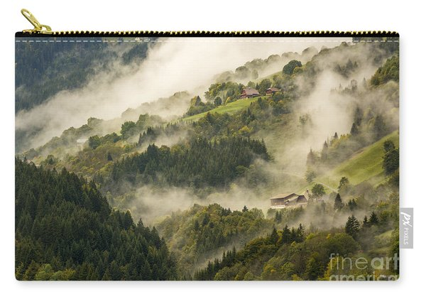 View Of Alpine Landscape. France. Carry-all Pouch