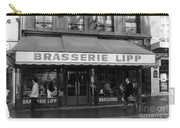 View Of The Lipp Restaurant In Saint Germain Des Pres In Paris On March 2, 1979 Carry-all Pouch