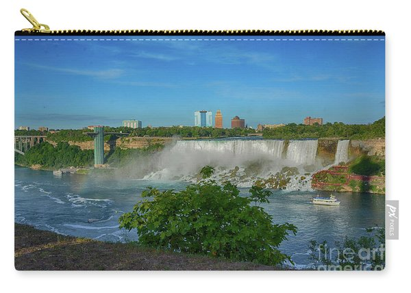 View Of Usa From Canada Carry-all Pouch
