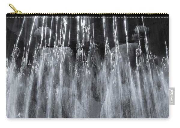 Vigeland Fountain In Blue Carry-all Pouch
