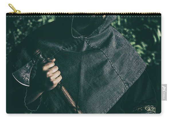 Viking Man With Axe Carry-all Pouch