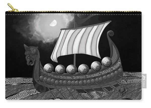 Viking Ship_bw Carry-all Pouch