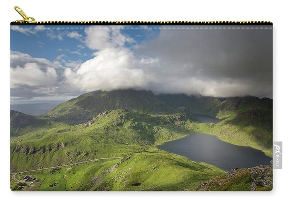 Vikvatnet And Morkdalsvatnet From Holandsmelen Carry-all Pouch