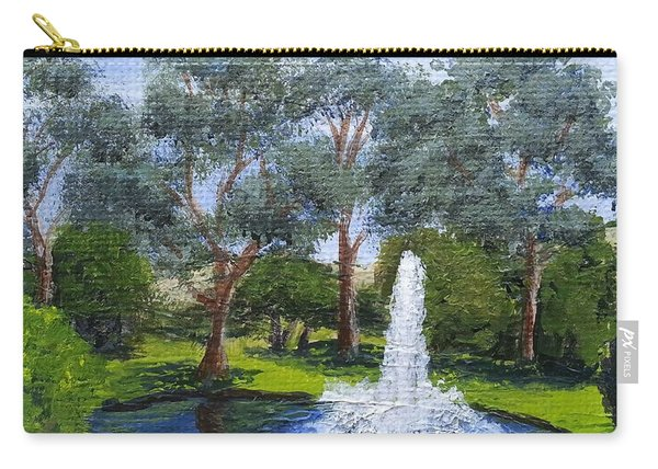Village Fountain Carry-all Pouch