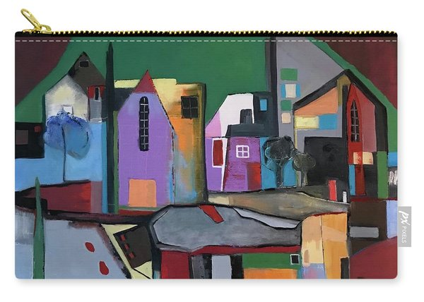 Village Near The City Carry-all Pouch