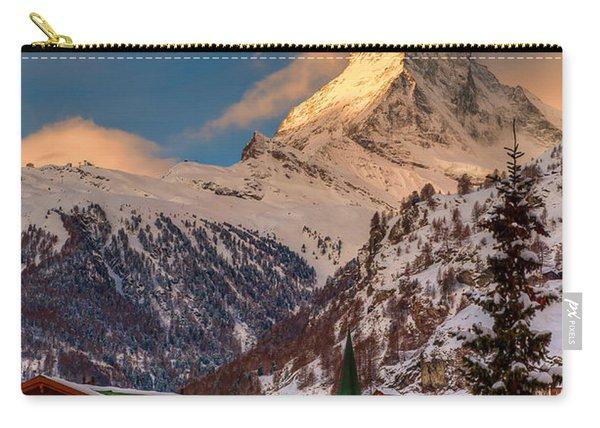 Village Of Zermatt With Matterhorn Carry-all Pouch