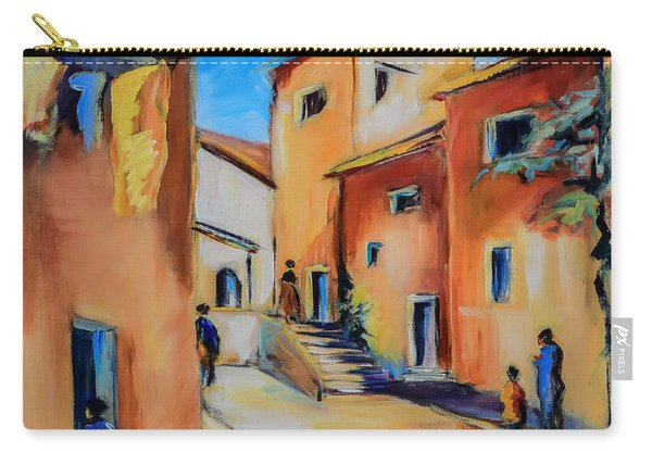 Village Street In Tuscany Carry-all Pouch