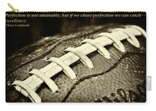 Vince Lombardi Perfection Quote Carry-all Pouch