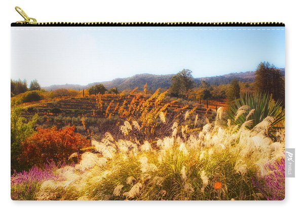 Carry-all Pouch featuring the photograph Vineyard Afternoon By Mike-hope by Michael Hope