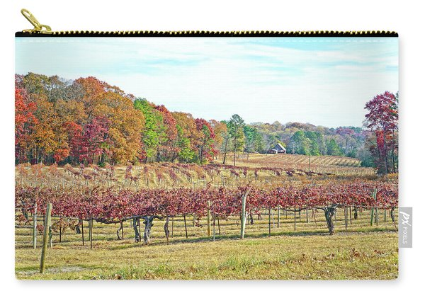 Vineyard In Autumn Carry-all Pouch