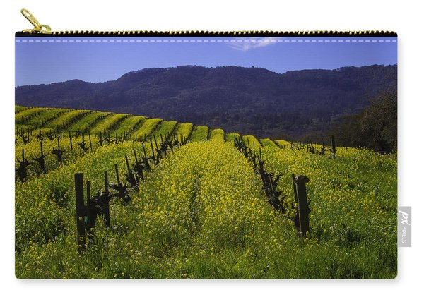 Vineyard Mustard Carry-all Pouch