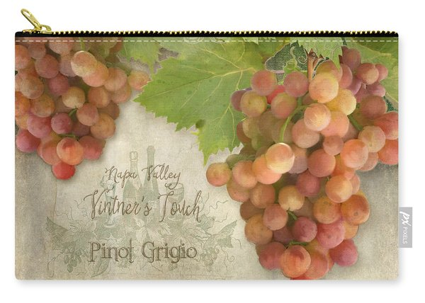 Vineyard - Napa Valley Vintner's Touch Pinot Grigio Grapes  Carry-all Pouch