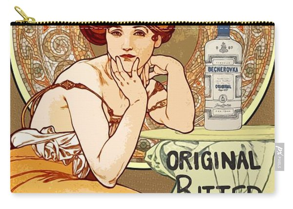 Vintage Art Nouveau Bechers Original Bitter 1807 Carry-all Pouch